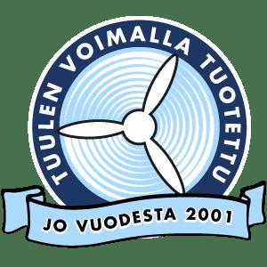 Tuulen voimalla tuotettu – Jo vuodesta 2001