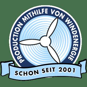 Produktion mithilfe von Windenergie schon seit 2001