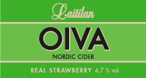 Oiva Real Strawberry Nordic Cider